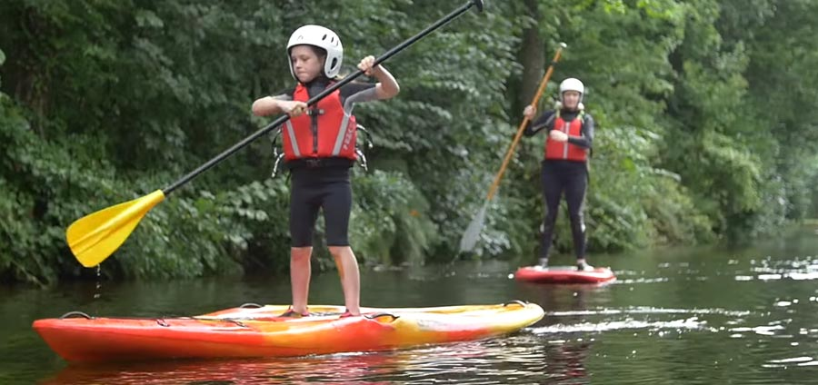 Stand up Paddle Boarding on the Llangollen Canal