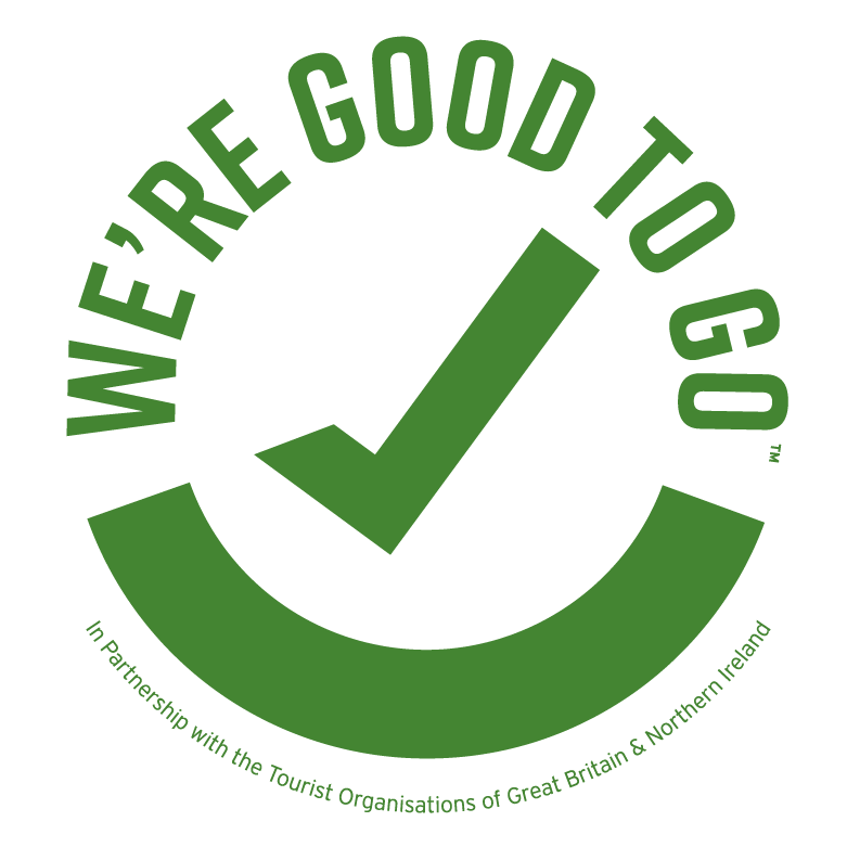 Certified good to go by the tourist organisations of the United Kingdom